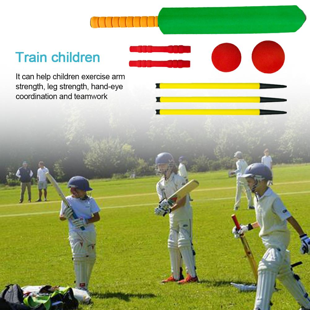 Children Plastic Cricket Balls Playing Set Kids Cricket Set Outdoor Interaction Leisure Educational Toys Early Development Toys