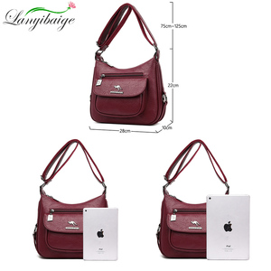 Image 3 - Lanyibaige高級ハンドバッグの女性のデザイナーソフト女性のクロスボディメッセンジャーバッグ女性ヴィンテージショルダーバッグ