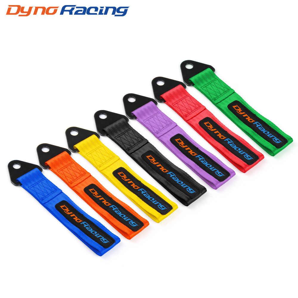 Dynoracing tow askı evrensel yüksek kalite yarış araba çekme kayışı/çekme halatı/kanca/çekme çubukları vidasız ve somun
