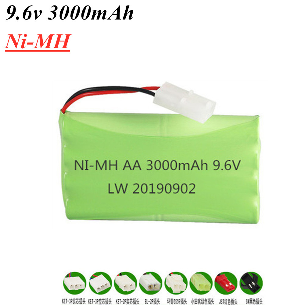 9.6V 3000mAh NI-MH battery 9.6V nimh AA battery for RC toys Car Tanks Trains Robot Boat Gun tools Spare Parts