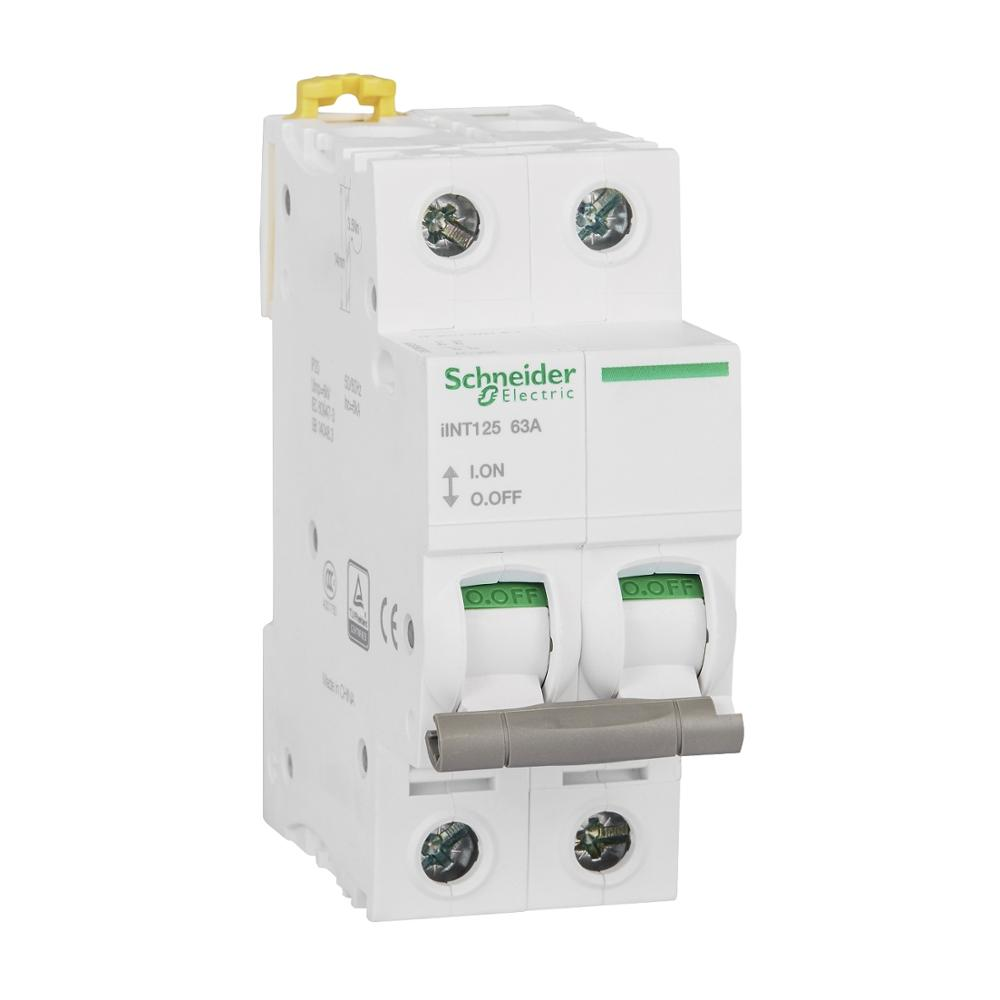 Original export IINT125 control isolation switch, 2P 63A 400VAC 50/60Hz 4.2 kA separate isolation switch DIN rail installation