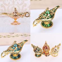 European Imitation Classical Crafts Decoration Creative Ornaments Lamp Trumpet Props Metal Aladdin Wishing Deskt Gift Z0B6