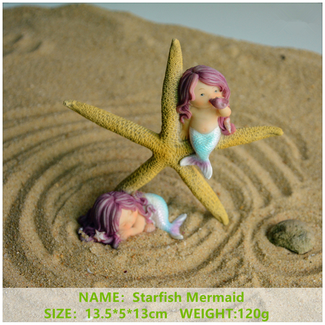Everyday Collection Garden Fantasy Figurine Art Works Home Decor Gifts Resin Miniature Mermaid Princess Statue Fairy 6