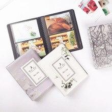 64 cepler 3 inç fotoğraf albüm Fujifilm Instax Mini Film için kağıt albümü Instax Mini 9 8 7s 90 70 25 isim kartı bilet tutucu