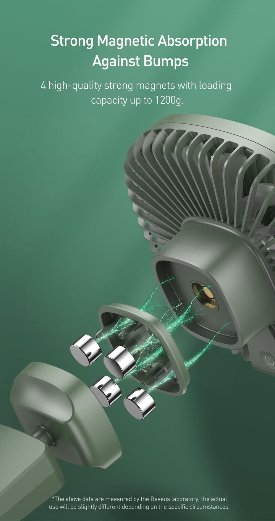 Baseus Natural Wind Magnetic Rear Seat Fan Rechargeable Fan 10