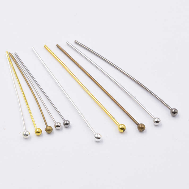 Raw 24k Shiny Gold Plated Nickel Silver Freenickel Plated - Copper Oxide Antigue Yellow 100 Pcs 10mm  Flat Head Pins Head Pins  Brass