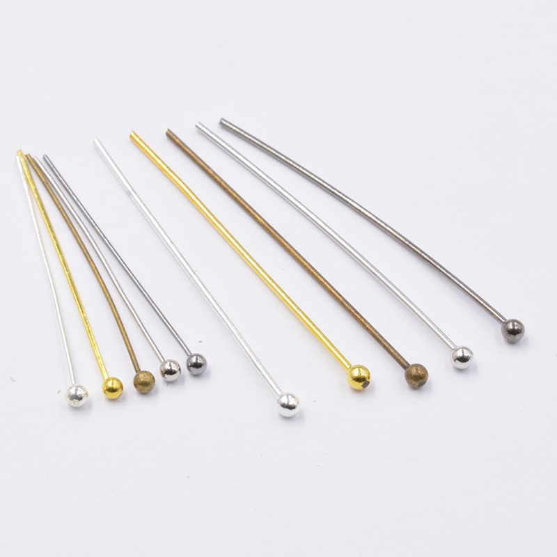 200pcs Dia 0.5/0.7mm 12-35mm Metal Ball Head Pins Needles Beads Handmade For DIY Jewelry Making Accessories Earring Findings