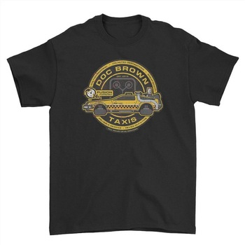 Back To The Future Film Cult Dr Emmett Brown DeLorean T Shirt