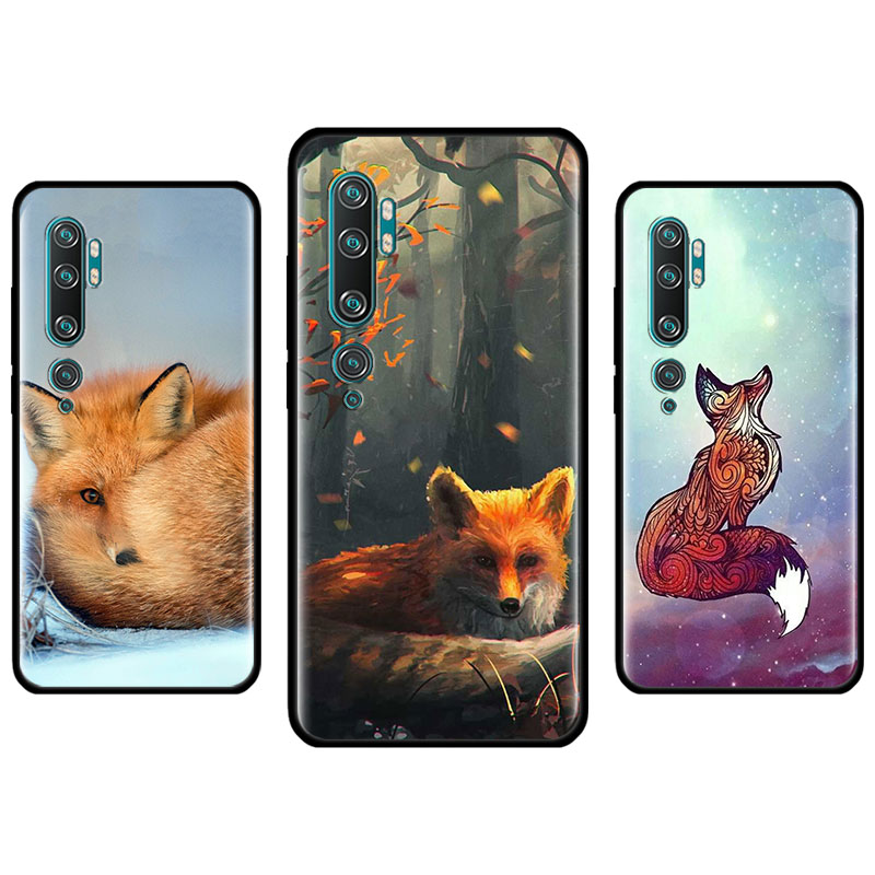 Silicone Case For Ximaomi Mi 9 10 Pro 5G 9T CC9 CC9E Note 10 Pro A1 A2 8 Lite Poco X2 F1 Cover Fundas Fox In Autumn Leaves Fores