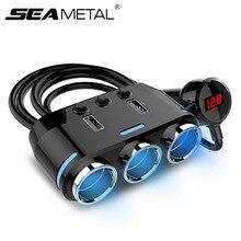 12V רכב Socket מטען לרכב USB הכפול מצית ספליטר מתח תצוגת מצית שקע אוטומטי פנים אלקטרוני