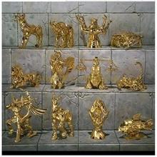 12 adet/takım anime s versiyonu 12 takımyıldızı heykeli hayvan aziz seiya pvc action figure 6cm oyuncak