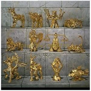 Image 1 - 12 قطعة/المجموعة أنيمي q النسخة 12 كوكبة تمثال الحيوان سانت seiya pvc عمل الشكل 6 سنتيمتر لعبة