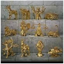 12 pçs/set anime q versão 12 constellation estátua animal 6 centímetros saint seiya ação pvc figura Toy