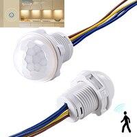 Zeit Verzögerung PIR Infrarot Körper Motion Sensor Detektor Modul Empfindliche 100 V 240 V Glühbirne Lampe Control Schalter home Zubehör-in Starter aus Licht & Beleuchtung bei