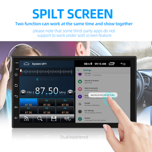 Image 3 - 2din Car Radio Android 8 Universal GPS Navigation Bluetooth 2.5D Touch Split Screen Wifi Car Audio Stereo FM USB Car Multimedia