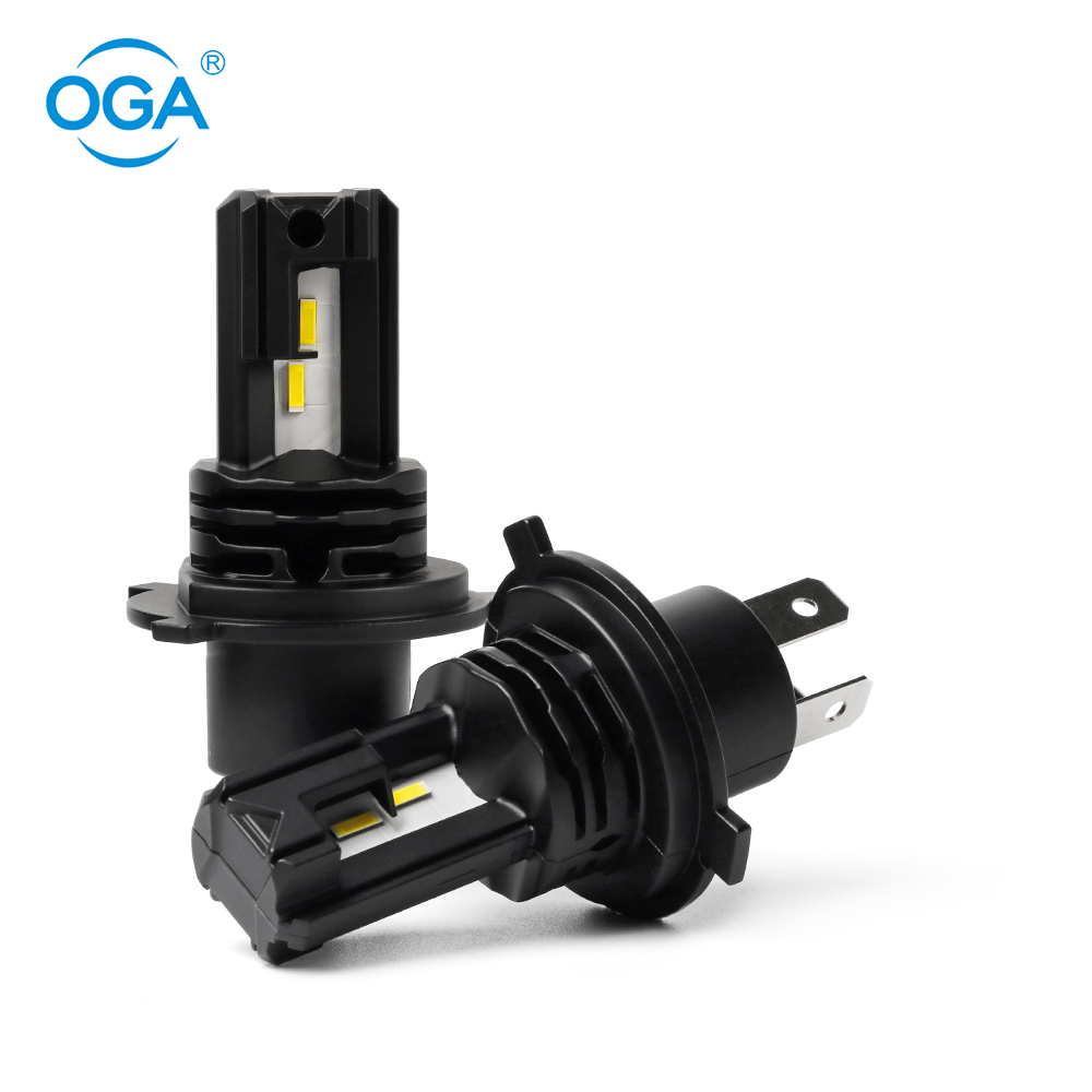 OGA 2PCS H4 LED Headlight Bulb 9003 HB2 Hi/Lo Beam Car Light 1:1 Mini Fanless Auto Headlamp 8000LM 40W 6000K Car Accessories image