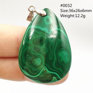 Image 5 - 100% الطبيعية الخضراء الملكيت الكريزوكولا قلادة النساء الرجال حجر كريم كريستالي أحجار استشفاء قلادة قلادة AAAAA