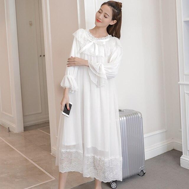Princess Maternity White Night Dress 4