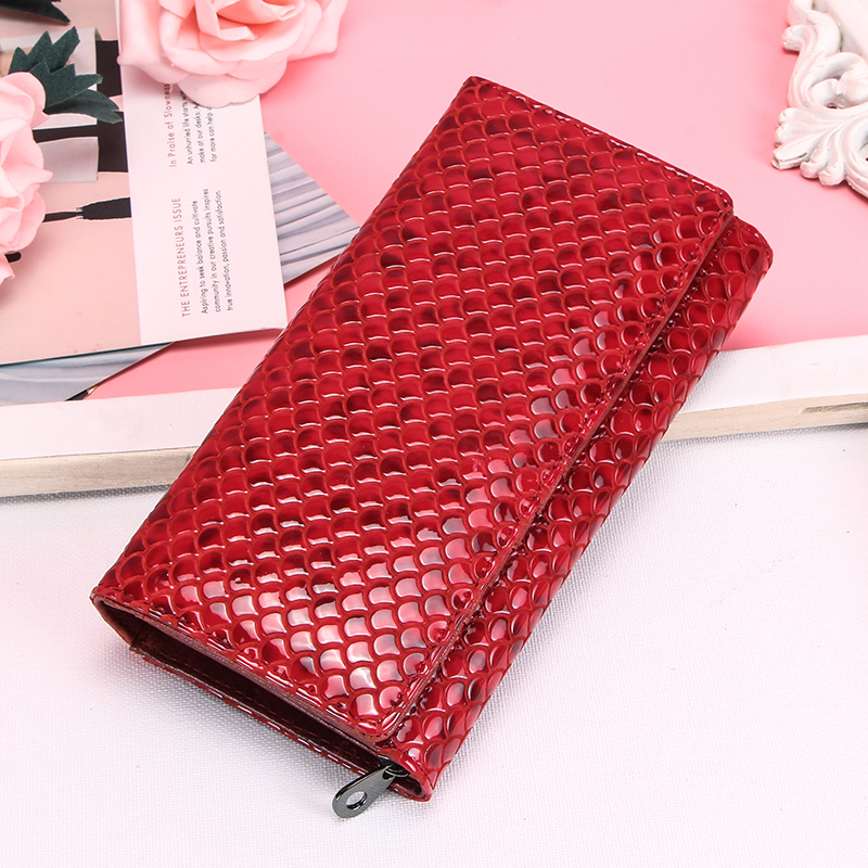 Contact's Genuine Leather Women Wallets Fashion Female Coin Purse Portomonee Zipper Pocket For Money Bag Long Clutch Wallet|Wallets|Luggage & Bags - title=