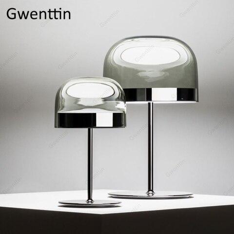 luminaria led de luxo moderna de mesa luz de cogumelo para quarto cama lateral luz