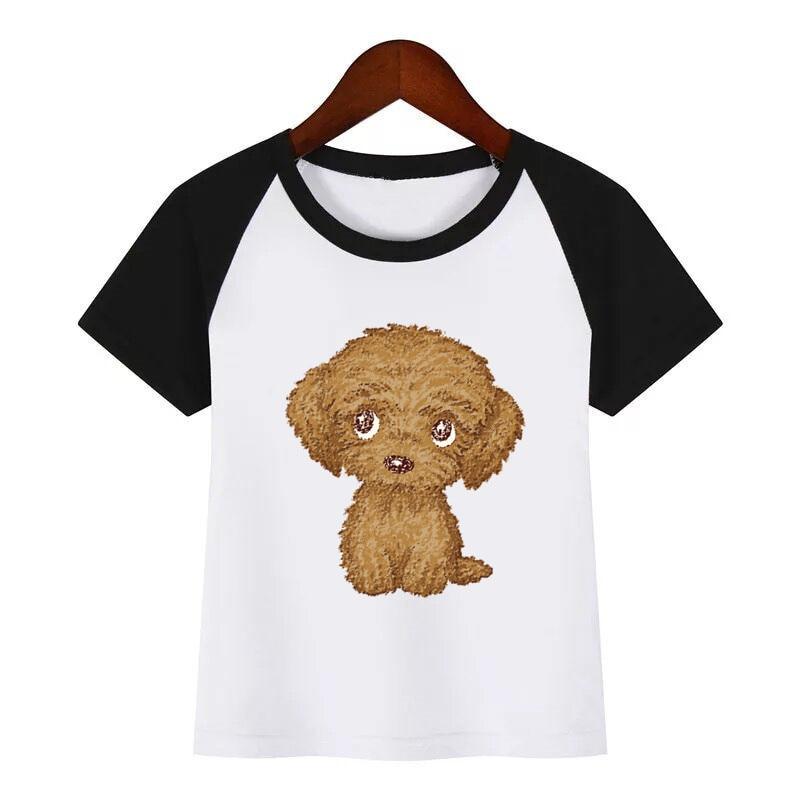 MININ Childrens Cute Dog Short Sleeve T-Shirt