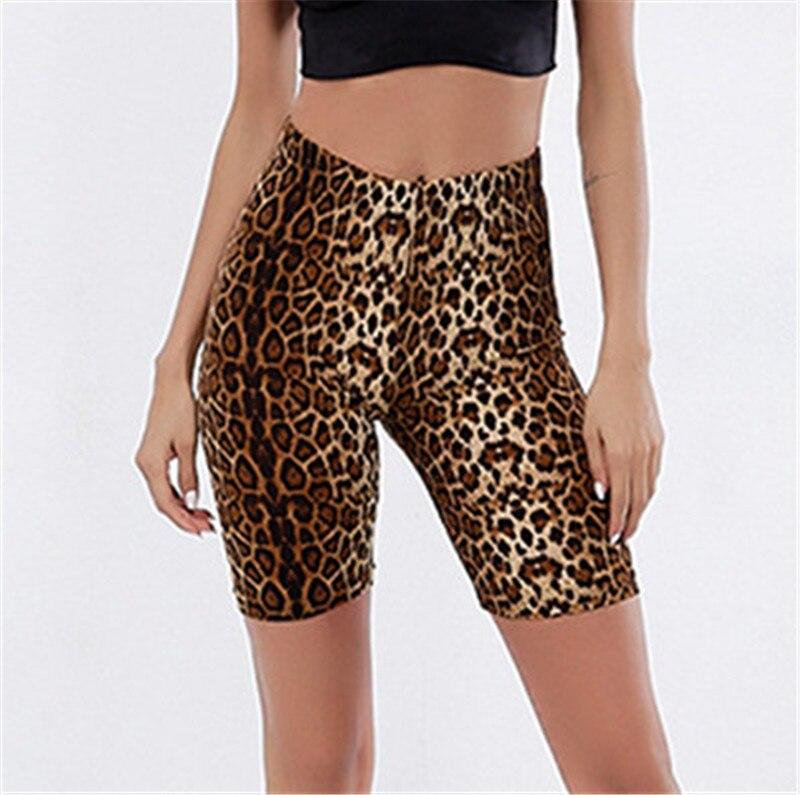 Skinny Biker Shorts Women Printed Sports Tight  Hips High Waist  Short Pants Outdoors  Pantalon Deporte Corto Mujer