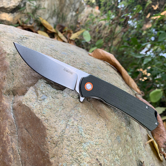 TUNAFIRE Folding Pocket Knife TUNAFIRE Outdoor Cutter Pocket D2 high speed Steel Survival Camping Multifunctional tools 1