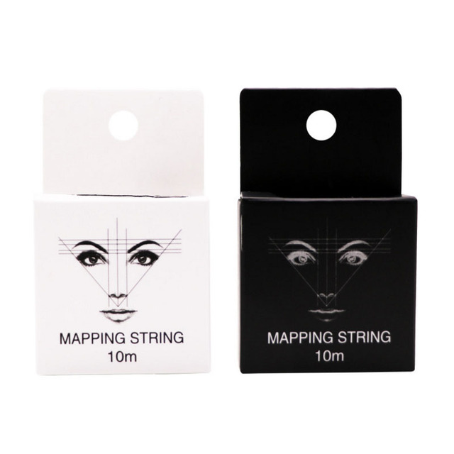 Pre-Inked Mapping String for Eyebrow Measuring Made From Natural Bamboo Charcoal Thread. Microblading Supply 10Meter