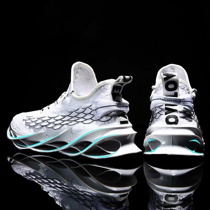 ชายรองเท้าวิ่งรองเท้าผู้ชายกีฬาลำลองชาย Tides รองเท้ากลางแจ้ง Breathable การฝึกอบรมสีขาวรองเท้าผ้า...