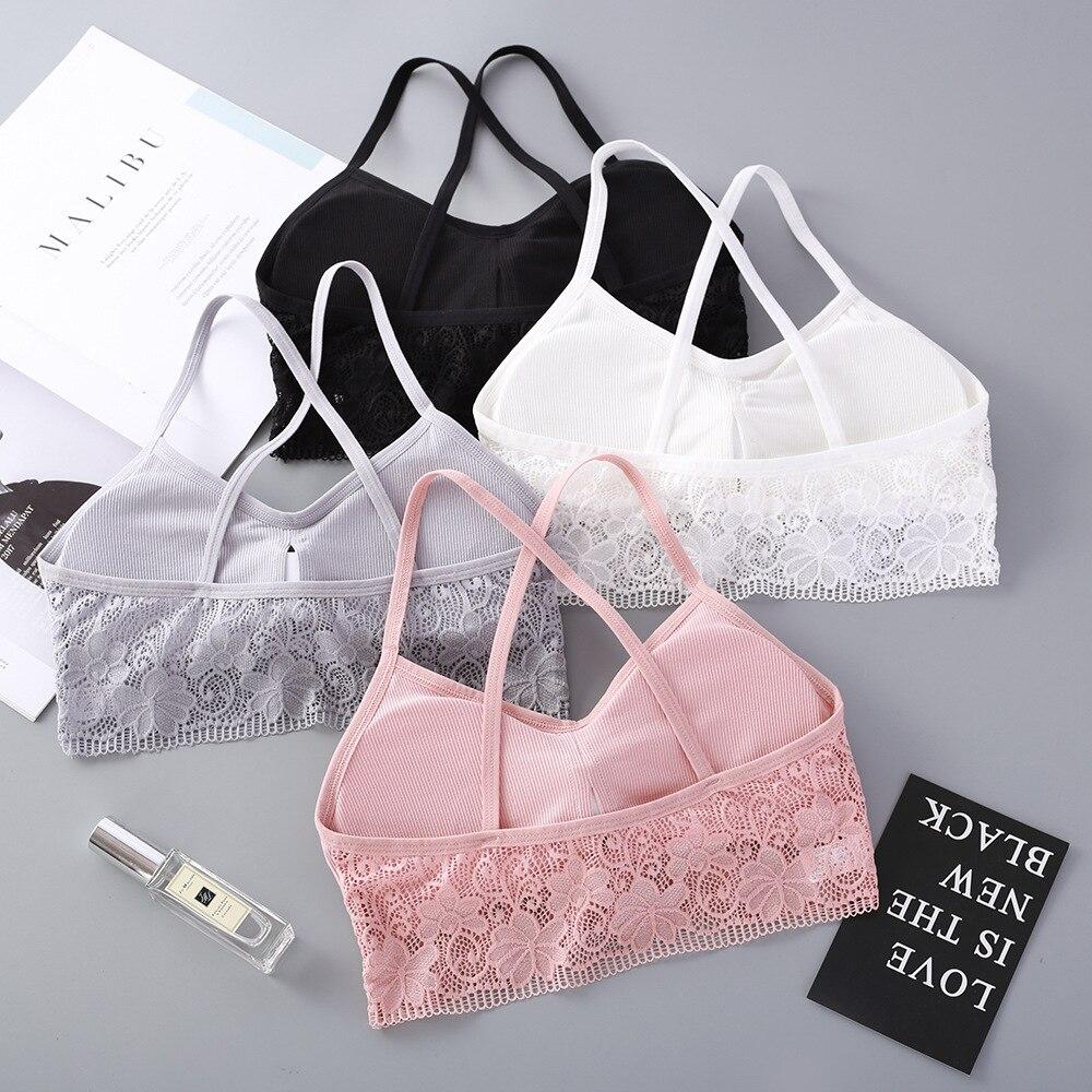 Women Lace Tube Tops Beauty Back Bra Top Bandeau Summer Crop Top Underwear Brassiere Wire Free Intimates