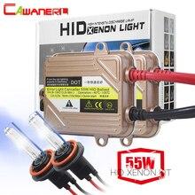 Cawanerl 55 Вт Автомобильные фары ксеноновый комплект hid балласт света 3000 K-10000 K H1 H3 H4 H7 H8 H11 9005 9006 9007 881 автомобилей ближнего света, лампа для противотуманной фары
