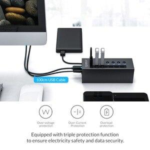 Image 2 - ORICO 7 Cổng USB 3.0 Hỗ Trợ BC1.2 Sạc Với Nguồn 12V Nhôm Bộ Chia USB Cho Phụ Kiện Macbook máy Tính Để Bàn OTG