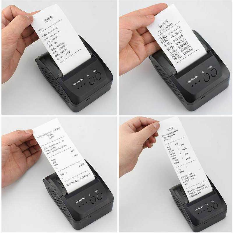 Mini Di Động Bluetooth Máy In Không Dây Hóa Đơn Nhiệt Vé Máy In Cho Điện Thoại Di Động Cửa Sổ 58 Mm 2 Inch Máy POS