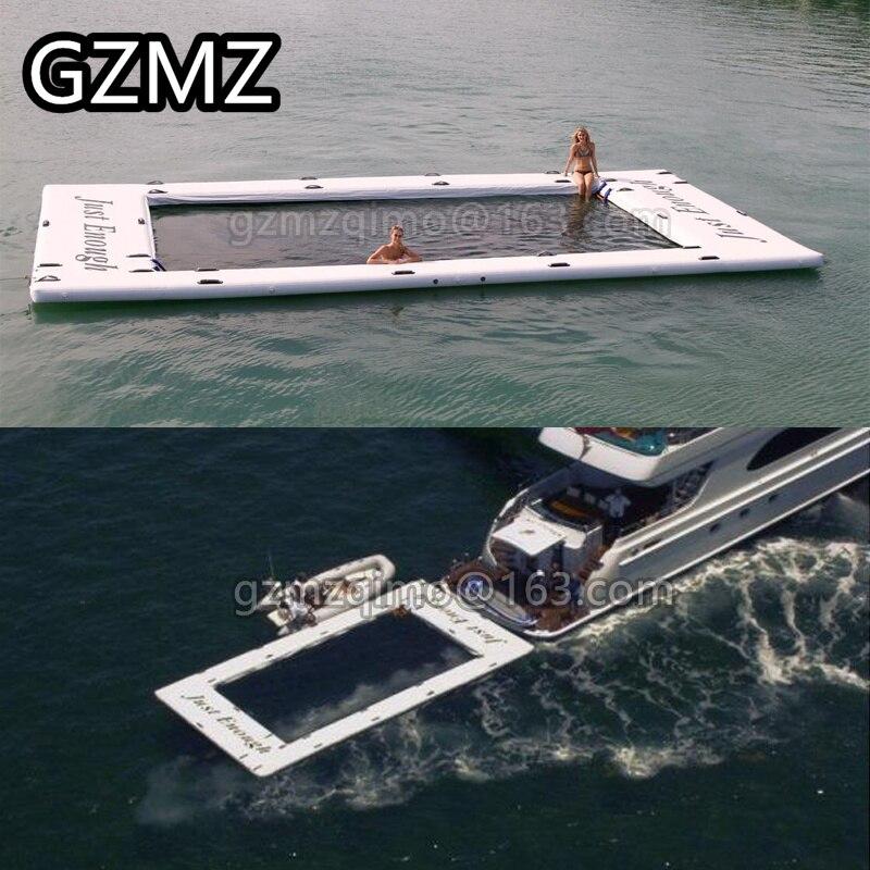 Une piscine de mer gonflable a adapté le Yacht grand l'eau gonflable joue la piscine de mer gonflable avec le point de chute