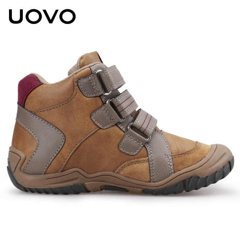 2019 UOVO ใหม่มาถึงกลางลูกวัวรองเท้าเด็กรองเท้าแฟชั่นเด็กกีฬารองเท้ากลางแจ้งเด็กรองเท้าผ้าใบลำลองสำหรับชายขนาด 26-36 #
