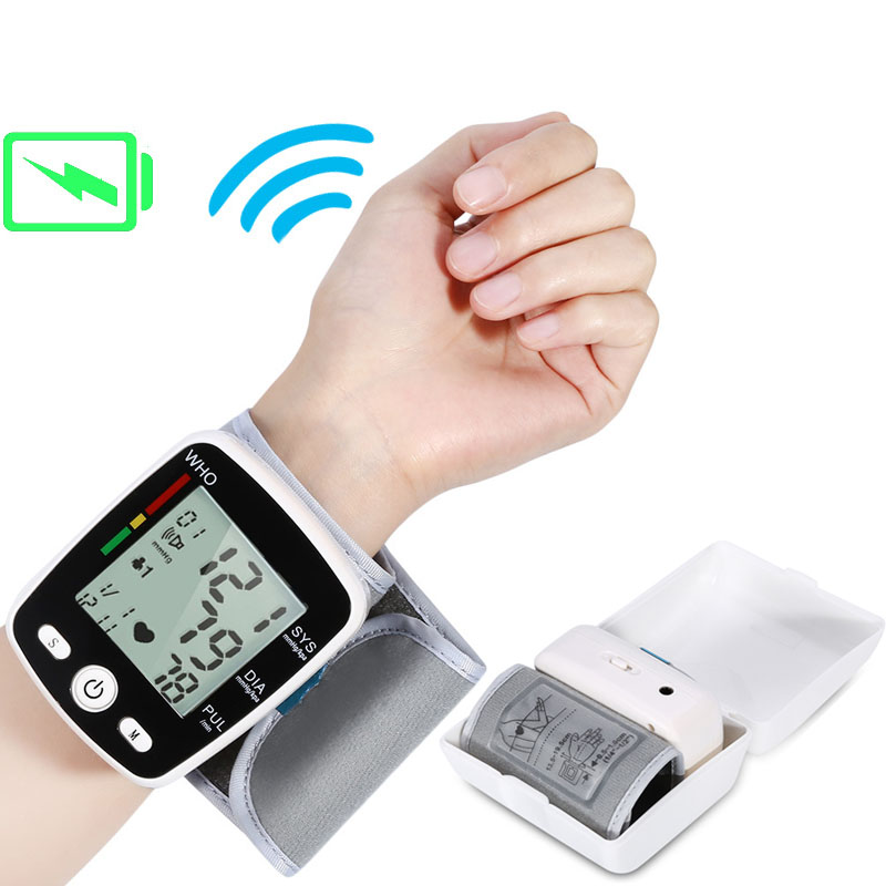 Tonometer Pulse-Pulsometer-Machine Monitor-Heart-Rate Bp-Cuff Rechargeable Automatic