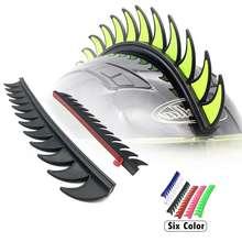 5 цветов светоотражающие резиновые грязи байкер Мотокросс Mohawk Байкерский шлем Mohawks шипы мотоциклетный шлем Mohawk стикер