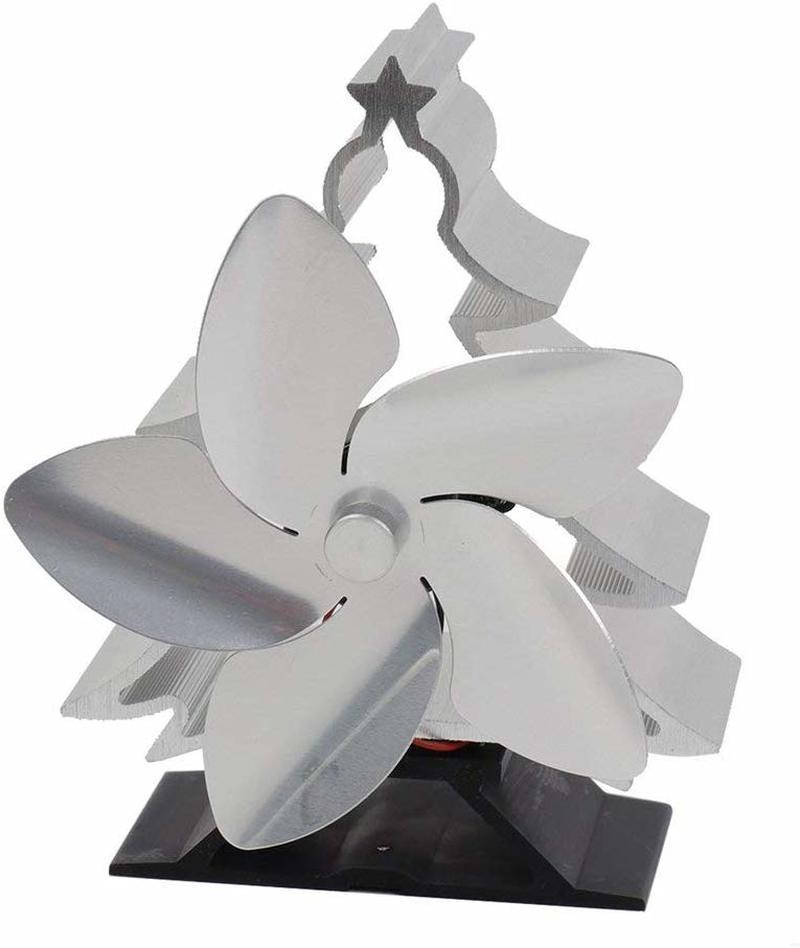 New Three-color Christmas Villa Fireplace Fan Christmas Tree Cooling Fan Smart Electric Fireplace Fan Stove Fan