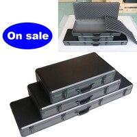 Caja de Herramientas larga de aleación de aluminio, caja de seguridad con lazo compuesto, Maleta multifuncional, instrumento Musical, caja de modelo aéreo