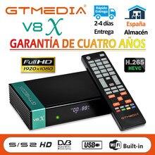 1080p gtmedia v8x DVB-S2 v8 nova atualização do receptor de satélite por honra gtmediav8/v9 super suporte h.265 built-in wi-fi nenhum aplicativo