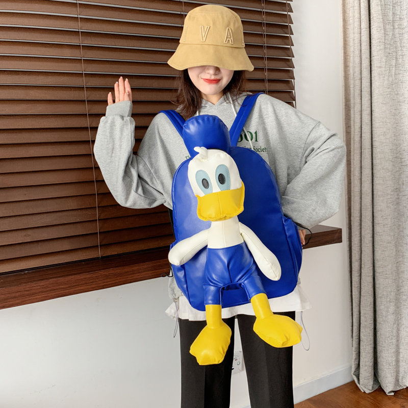 2020 Spring New Cute Donald Duck Backpack Large Capacity Backpack Fashion Student Bag Backpack Women School Bags