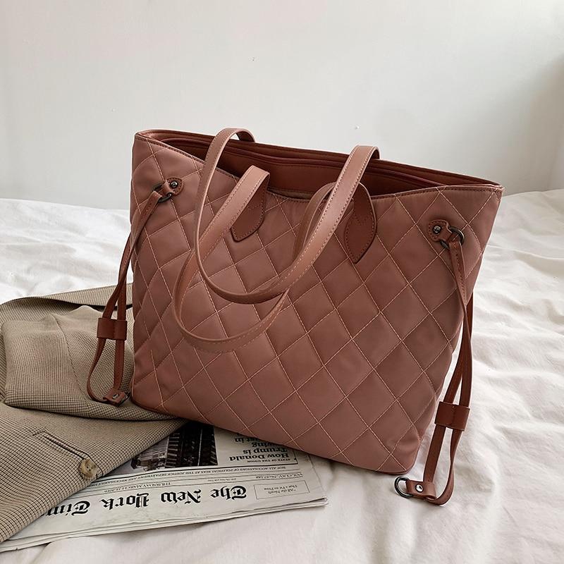 с доставкой Shoulder Bags 2021 Winter High Quality nylon Women's Trend Branded Handbag Travel Shoulder Crossbody Bag
