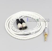 LN006559 2,5mm 4,4mm XLR 8 Core Silber Überzogene OCC Kopfhörer Kabel Für Mr Lautsprecher Ether Alpha Hund Prime