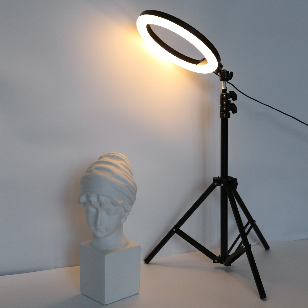 Hf42a14274777416ca45c38950637fa89m 26cm 33cm RGB Selfie Ring LED Light with Stand Tripod Photography Studio Ring Lamps for Phone TikTok Youtube Makeup Video Vlog