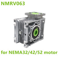 NMRV063 Worm Reducer 14mm 19mm 24mm input shaft 7.5:1 100 :1 Gear Ratio Worm Gearbox 90 Degree Speed Reducer