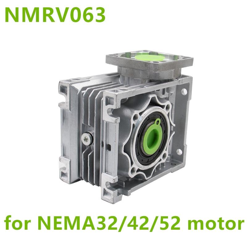 NMRV063 Worm Reducer 14mm 19mm 24mm input shaft 7.5:1 - 100 :1 Gear Ratio Worm Gearbox 90 Degree Speed Reducer