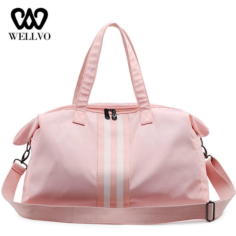 Dry Wet Pocket Luggage Duffle Tote Waterproof Women Travel Bag Separate Space Fitness Shoulder Handbags Travelling Bags XA688WB
