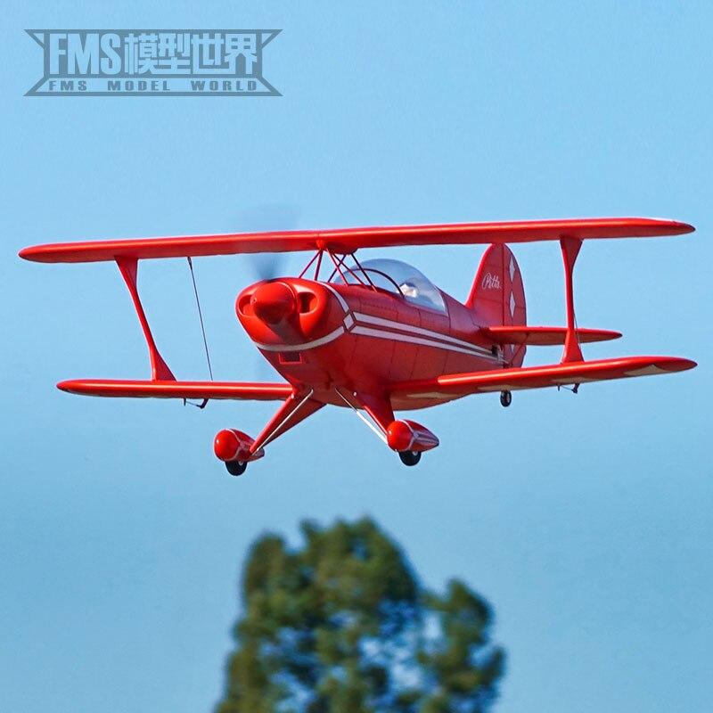 FMS 1400 мм до Pitts, как настоящий биплан, дистанционное управление, Электрический сборный самолет, модель самолета