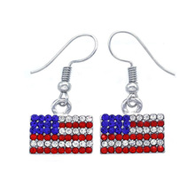 Fashionable Leaf Earrings national flag multilayer leather water drop earrings Independence Day Flag Pentagram Earrings accessor