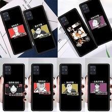 Haikyuu Hinata Silicone Case Para Samsung Galaxy A51 A71 A50 A21s A70 A10 A20e A30 A40 A31 A41 A11 A12 A02s Coque Suave Tampa Traseira